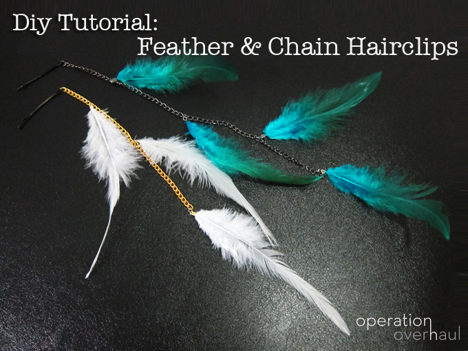 OperationOverhaul Feather and Chain Hairclip Tutorial