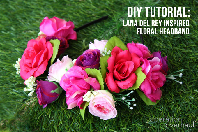 Operation Overhaul - LDR floral headband tutorial