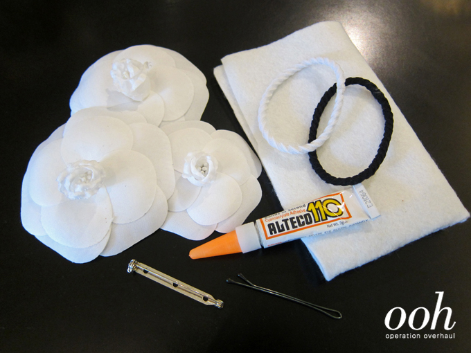 Operation Overhaul at Spruce - Chanel Camellia Hairtie Materials