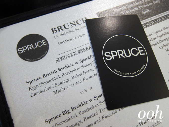 Operation Overhaul at Spruce - Menu