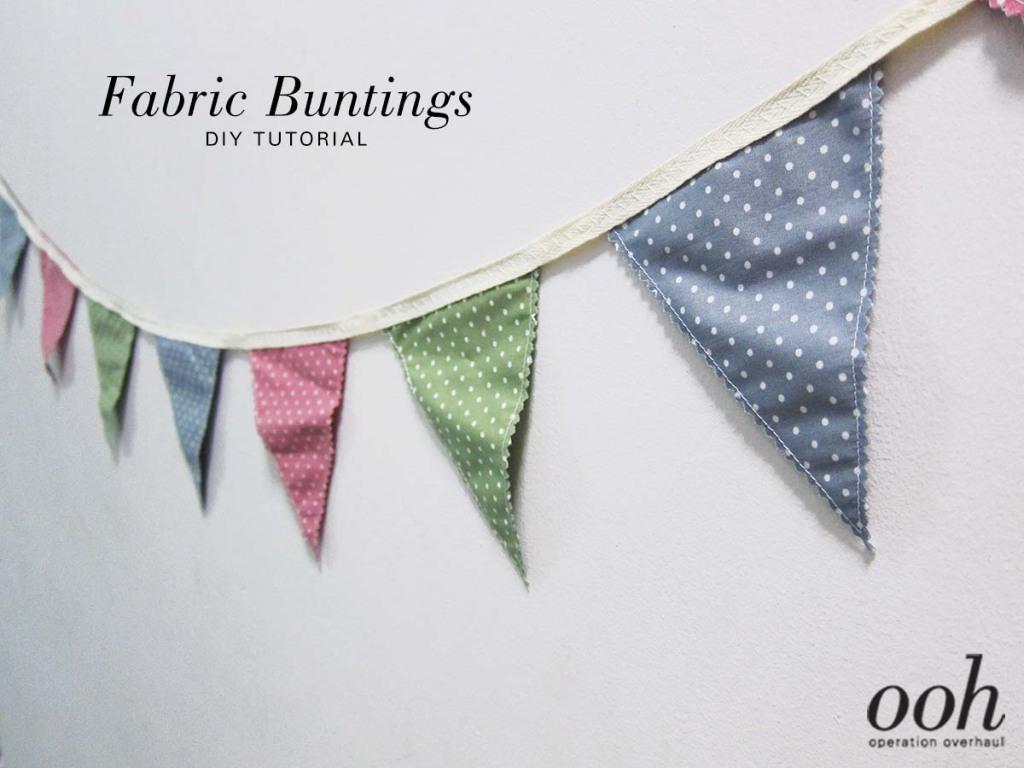 OOH - Fabric Buntings Tutorial